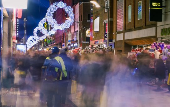 A city full of festive joy